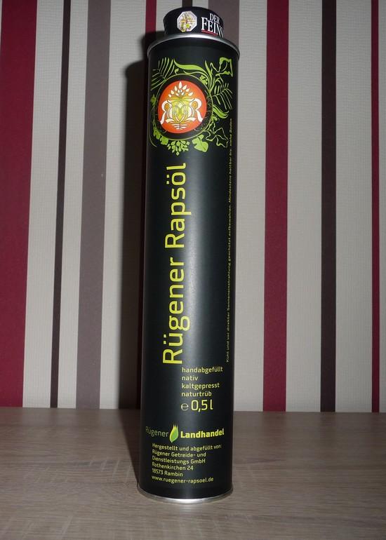 Rügener Rapsöl: handabgefüllt, ideal für Feinschmecker