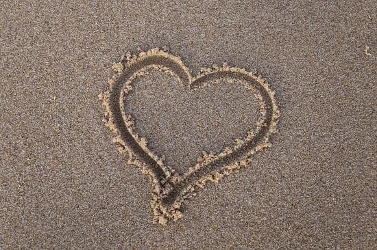Herz am Strand auf Rügen